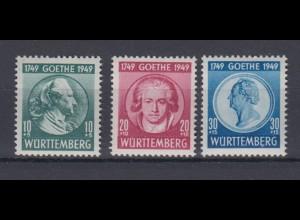 All. Besetzung Franz. Zone Württemberg 44-46 Johann W. v. Goethe postfrisch
