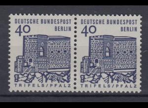 Berlin 245 waagerechtes Paar Deutsche Bauwerke 40 Pf postfrisch