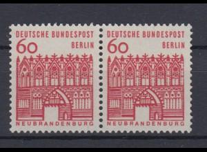 Berlin 247 waagerechtes Paar Deutsche Bauwerke 60 Pf postfrisch