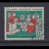 Bund 256 I mit Plattenfehler 500 Jahre Universität Freiburg 10 Pf gestempelt