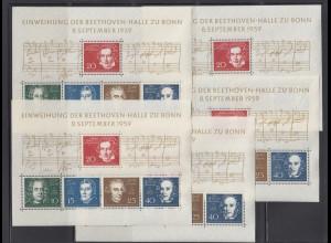 Bund 10x Block 2 Einweihung der Beethovenhalle postfrisch