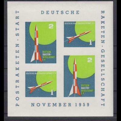 Vignette Postraketen Start Deutsche Raketen Gesellschaft November 1959