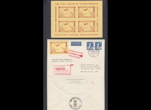 Vignette Brief Raketen Luftpost 17.3.60 Flug LH 420A