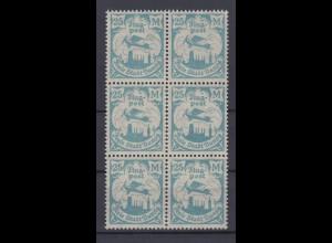 Danzig 133 6er Block Flugpostmarken (IV) 25 M postfrisch