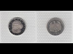 Münze 5 DM 1983 J Karl Marx polierte Platte /36