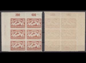 Danzig 118 Eckrand links oben 6err Block Flugpostmarken (III) 20 M postfrisch