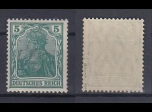 Dt. Reich 85 II d Einzelmarke Germania 5 Pf postfrisch geprüft Jäschke /1