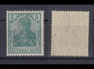 Dt. Reich 85 II d Einzelmarke Germania 5 Pf postfrisch geprüft Jäschke /2
