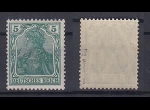 Dt. Reich 85 II d Einzelmarke Germania 5 Pf postfrisch geprüft Jäschke /3