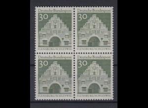 Bund 492 4er Block Deutsche Bauwerke (II) 30 Pf postfrisch