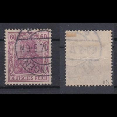 Deutsches Reich 92 IIb Germania 60 Pf gestempelt geprüft /1
