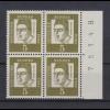 Bund 347y 4er Block Seitenrand + Bogennummer rechts Bedeutende Deutsche 5 Pf **