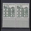 Bund 455 waagerechtes Paar mit Unterrand Deutsche Bauwerke (I) 15 Pf postfrisch