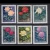 China 1927-1932 Rosen 4 F, 2x 8 F, 10 F, 20 F, 70 F postfrisch