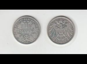 Silbermünze Kaiserreich 1 Mark 1903 A Jäger Nr. 17 /37