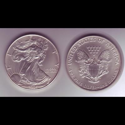 Silbermünze 1 OZ USA Liberty 1 Dollar 2005