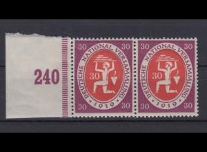 Deutsches Reich 110c mit Seitenrand waagerechtes Paar Maurer 30 Pf **