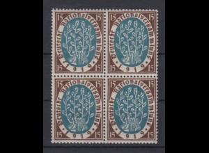 Deutsches Reich 108 4er Block Baumtriebe 25 Pf postfrisch