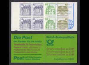 Berlin Markenheftchen 13b Burgen und Schlösser 1982 postfrisch