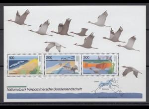 Bund Block 36 Deutsche Nationalpark 100, 200 + 300 postfisch