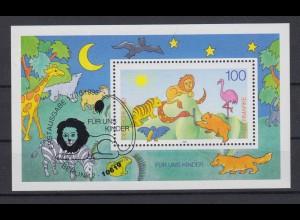Bund Block 34 Für uns Kinder 100 Pf ESST Bonn 12.10.1995