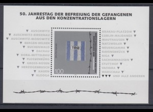 Bund Block 32 50. Jahrestag der Befreiung der Gefangenen 100 Pf postfrisch