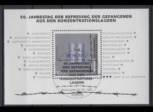 Bund Block 32 50. Jahrestag der Befreiung der Gefangenen 100 Pf ESST Berlin