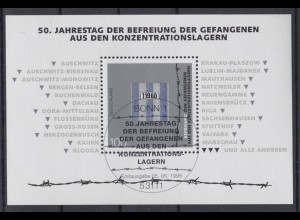 Bund Block 32 50. Jahrestag der Befreiung der Gefangenen 100 Pf ESST Bonn