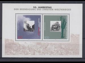 Bund Block 31 50. Jahrestag der Beendigung des 2. Weltkrieges 100 Pf postfrisch