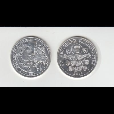 Medaille Johann Gottfried Schadow Die Deutschen Prägeanstalten 2014 /M47