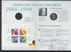 Bund Gedenkausgabe 50 Jahre Bundesrepublik Deutschland mit 2 DM Ludwig Erhard