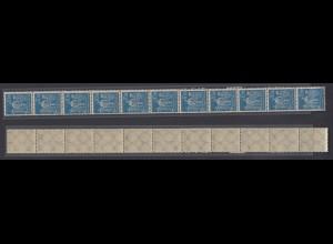 Dt. Reich 239 11er Str. Arbeiter 10 M teilweise seitlich geschlossene Zähnung /1