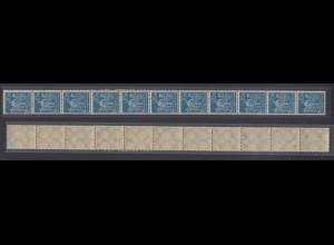 Dt. Reich 239 11er Str. Arbeiter 10 M teilweise seitlich geschlossene Zähnung /3