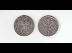 Silbermünze Kaiserreich 1 Mark 1901 A Jäger Nr. 17 /35