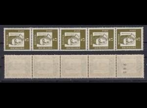 Bund 347y 5er Streifen ungerade Nr. Bedeutende Deutsche 5 Pf postfrisch