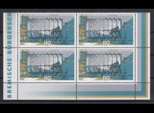 Bund 2040 Eckrand unten 4er Block Landesparlamente in Deutschland 110 Pf **
