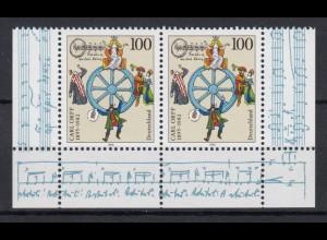 Bund 1806 I Plf. Eckrand Paar unten Carl Orff. Kößlinger 100 Pf postfrisch