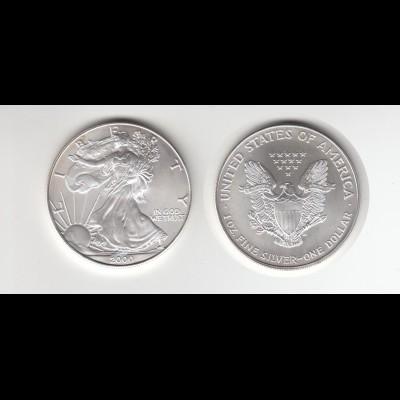 Silbermünze 1 OZ USA Liberty 1 Dollar 2000