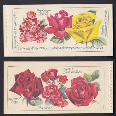 DDR Markenheftchen 6 I 1 A-A-A Rosen postfrisch