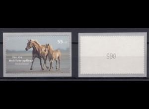 Bund 2635 SB Rollenmarke mit ungerader Nr. Haustiere Pferde 55+25 C postfrisch