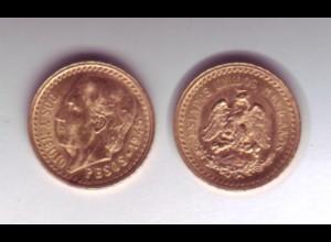 Goldmünze Mexiko 2,5 Pesos DOS Y MEDIO 1945