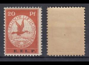 Dt. Reich VI Flugpostmarke E.EL.P. 20 Pf postfrisch
