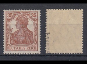 Deutsches Reich 103c Germania 35 Pf postfrisch geprüft INFLA Berlin