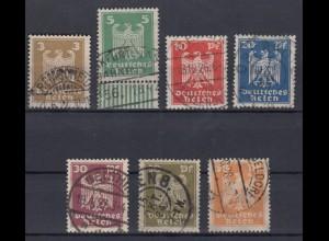 Deutsches Reich 355x - 361x Neuer Reichsadler kompletter Satz gestempelt /2