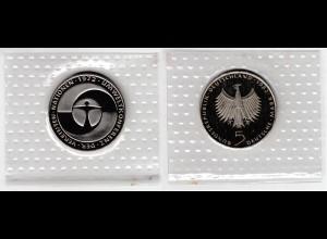 Münze 5 DM 1982 F Umweltschutz polierte Platte /34