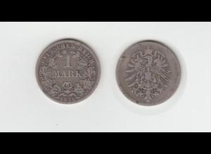 Silbermünze Kaiserreich 1 Mark 1876 C Jäger Nr. 9 /7