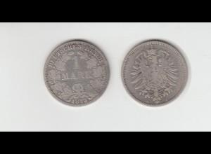 Silbermünze Kaiserreich 1 Mark 1875 A Jäger Nr. 9 /140