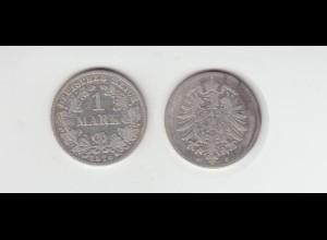 Silbermünze Kaiserreich 1 Mark 1876 C Jäger Nr. 9 /3