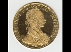 Goldmünze Österreich Franz Joseph I. 4 Dukaten 1915