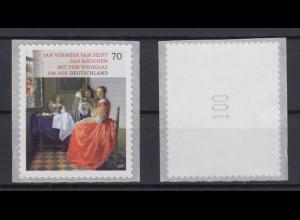 Bund 3280 SB Rollenanfang mit Nr. 100 Schätze aus Deutschen Museen 70 C **
